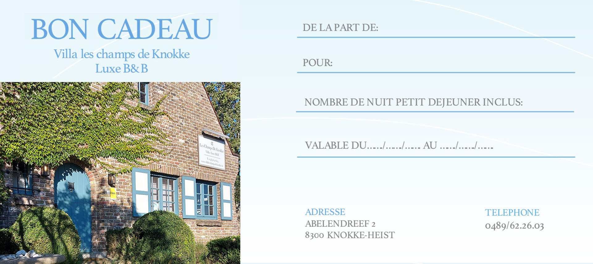Bed and breakfast Knokke